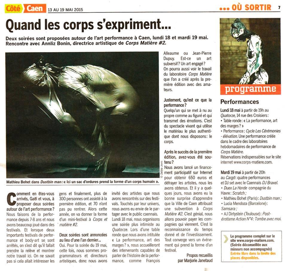 Corps Matière #2 - Côté Caen